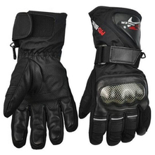 Leather Gloves Motorbike Motorcycle Gloves Winter Waterproof Windproof Protective gear Sports Racing Motocross Moto Gloves luvas(China (Mainland))