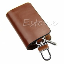 Top Quality Gorgeous Smooth Faux Leather Car Keychain Car Key Case Bag Cover