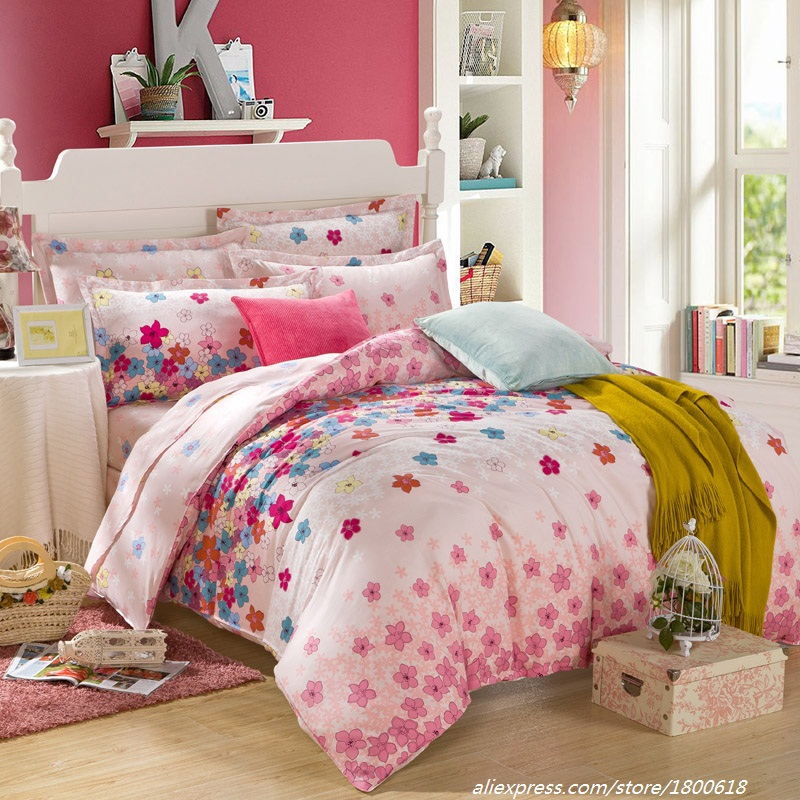 2015 new small beautiful flowers duvet cover 100 cotton