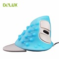 Delux M618 Wired Ergonomic Vertical Computer Mouse USB Human Engineering Upright Mice For PC Desktop Laptop