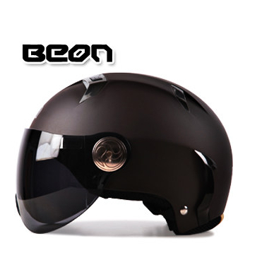 Free shipping BEON B-102 fashion motorcycle electric car half helmet Summer Helmet safety helmet Seasons / rubber Brown(China (Mainland))
