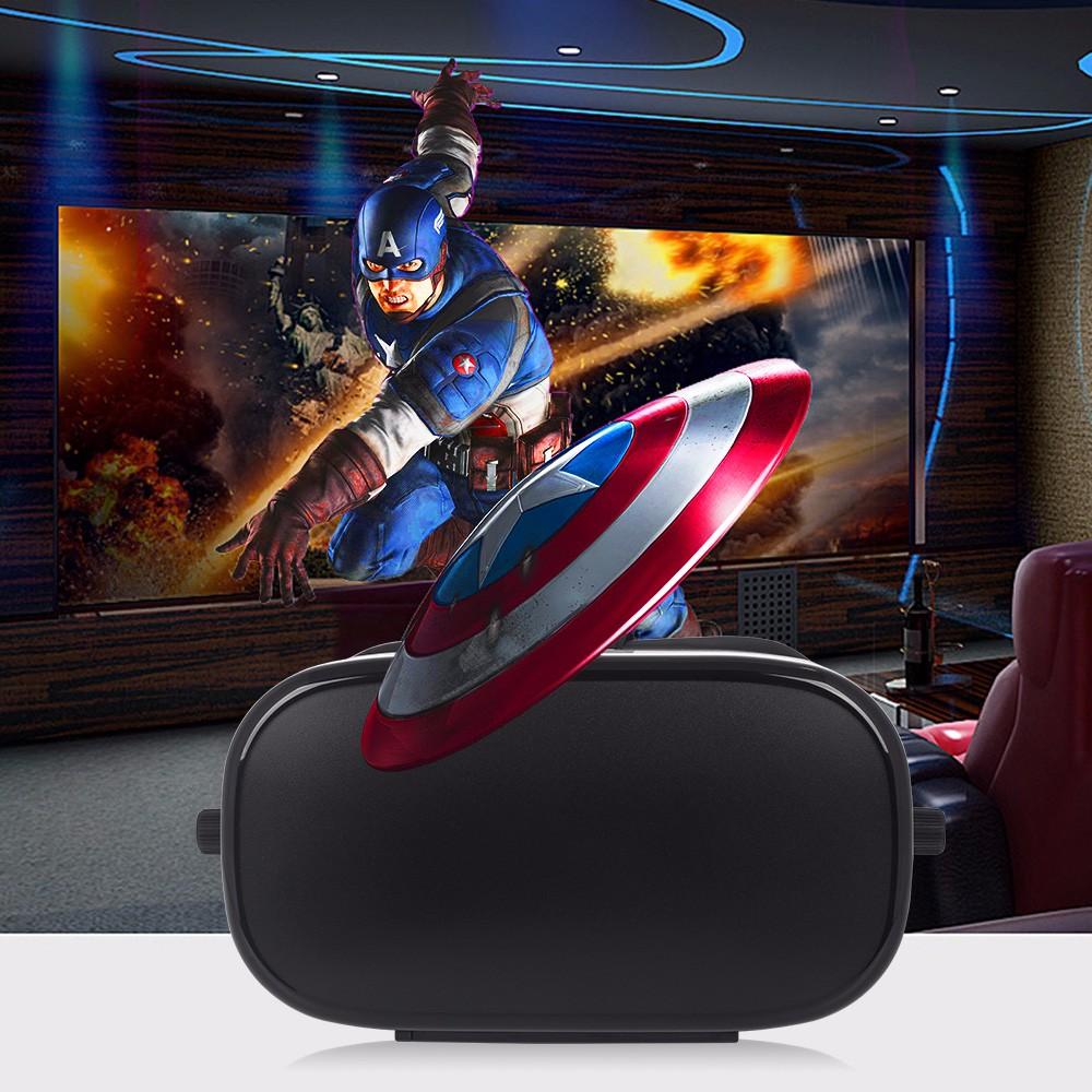 """ถูก สิงหาคมVR670 VRกล่อง3D VRแว่นตาเสมือนจริงสำหรับiPhoneซัมซุง4 ~ 6 """"นิ้วมาร์ทโฟน360องศา3Dดูชุดหูฟัง"""