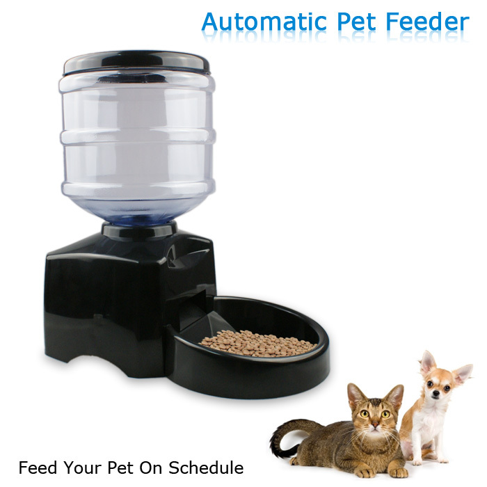 Latest for Dog LCD Display Record Personal Message Digital Timer Pet Automatic Food Feeder with Medium Capacity(China (Mainland))