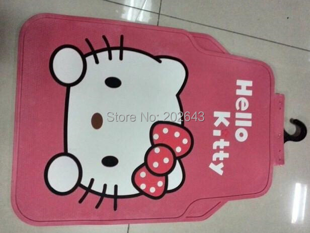FC003 Hello kity Car floor mats Carpets with pvc waterproof anti-slip mat 68*52cm pad pedals sticky pad for silica gel(China (Mainland))