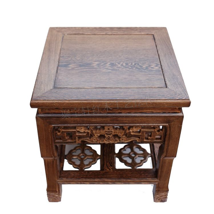 Party a rosewood carving handicraft furnishing articles household act the role ofing is tasted real wood flower stands tall base(China (Mainland))
