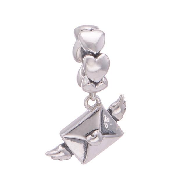 Оригинал 925 Jewerly любовное письмо мотаться бусины Diy серебра 925 ювелирных изделий для женщин подходит пандоры прелести браслеты Diy