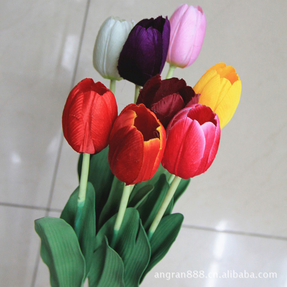 bulk artificial flowers explosion models factory direct single tulips fake flowers