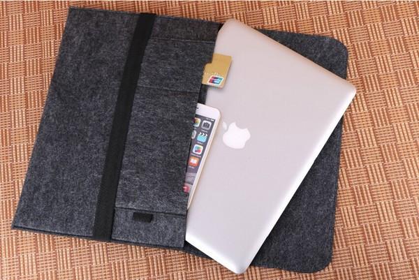 Wool Felt Ultrabook Sleeve Bag for Macbook Air Pro Retina 11 13 15 17 Laptop Inner