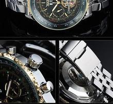 New Military full Steel Brand Automatic Self wind Relogio Masculino Watch Mechanical Fashion Luxury Men Watch