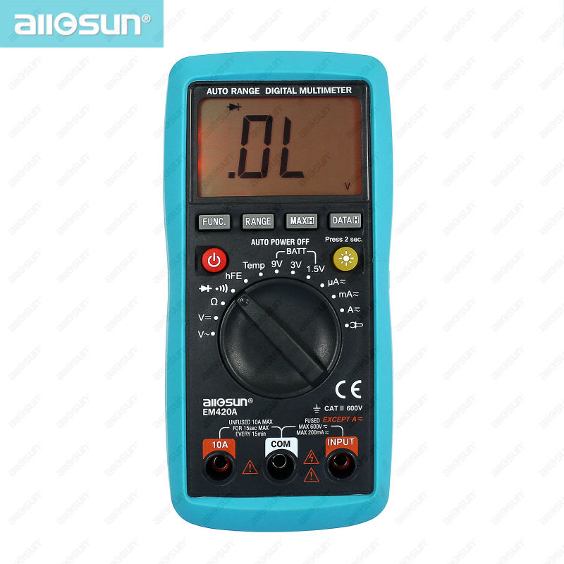 all sun Digital Multimeter Continuity Diode Transistor Battery Tester Temp Measuring Current AC DC Analysis Instruments