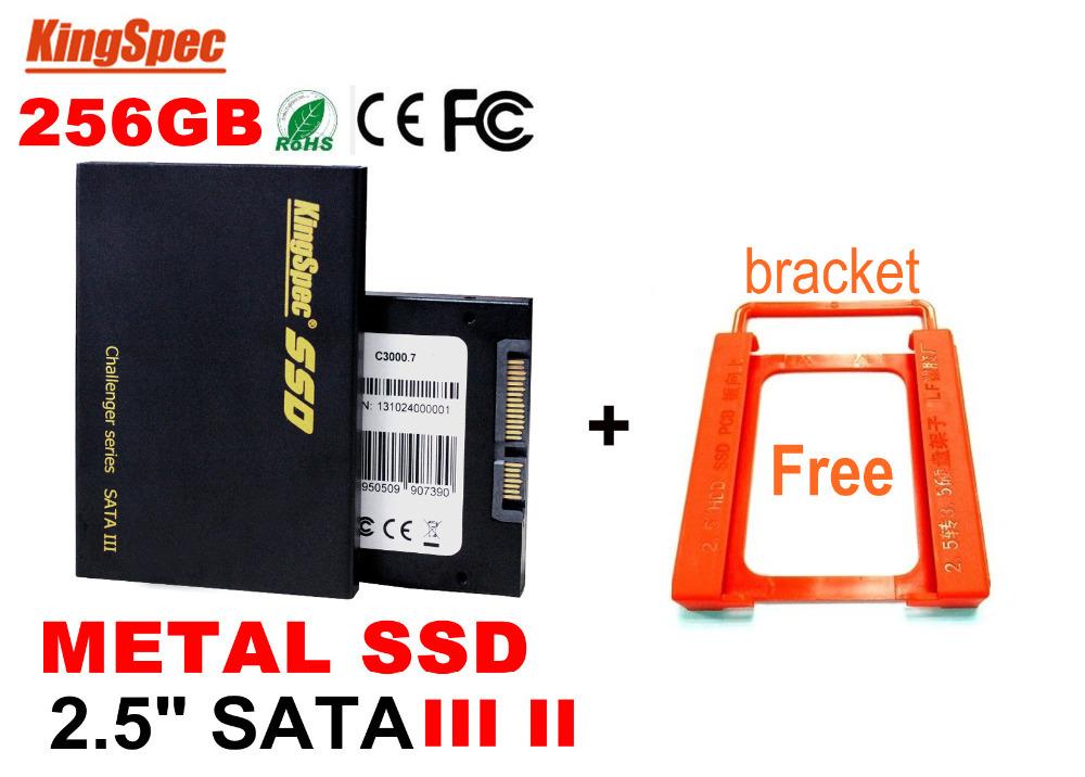 L Sale Kingspec 2.5 Inch Sata 3 SATA III SSD 256GB 240GB Solid State Disk internal hard drives Free Bracket - SOUPEI HOLDINGS CO LTD store