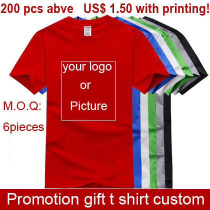 Promotion Gift T Shirts Custom Company Logo Or Pictures