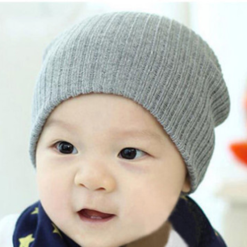 Winter Warm Knitted Crochet Cap Baby Hat Newborn Infant Toddler Girl Boy Baby Cap Cute Beanie Cotton Hat 12 Colors W2