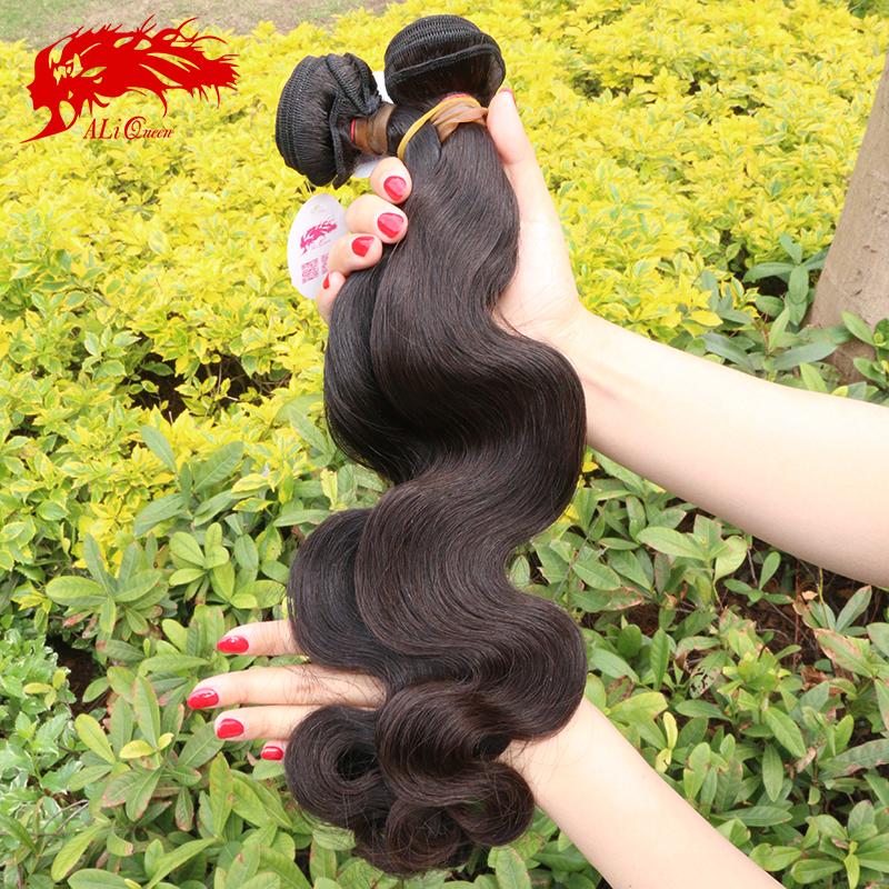 Burmese virgin hair 6A grade 3pcs lot natural black color #1b 100% human hair double drawn machine weft virgin burmese body wave