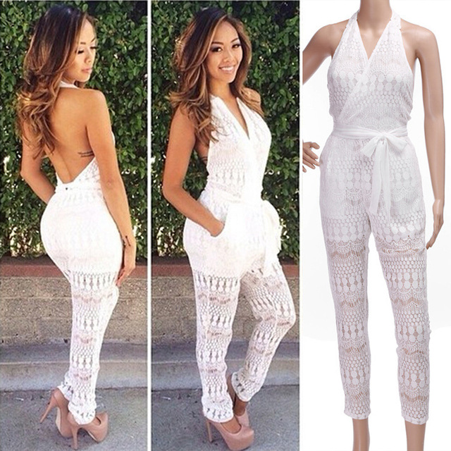 White Jumpsuit For Women Photo Album - Reikian