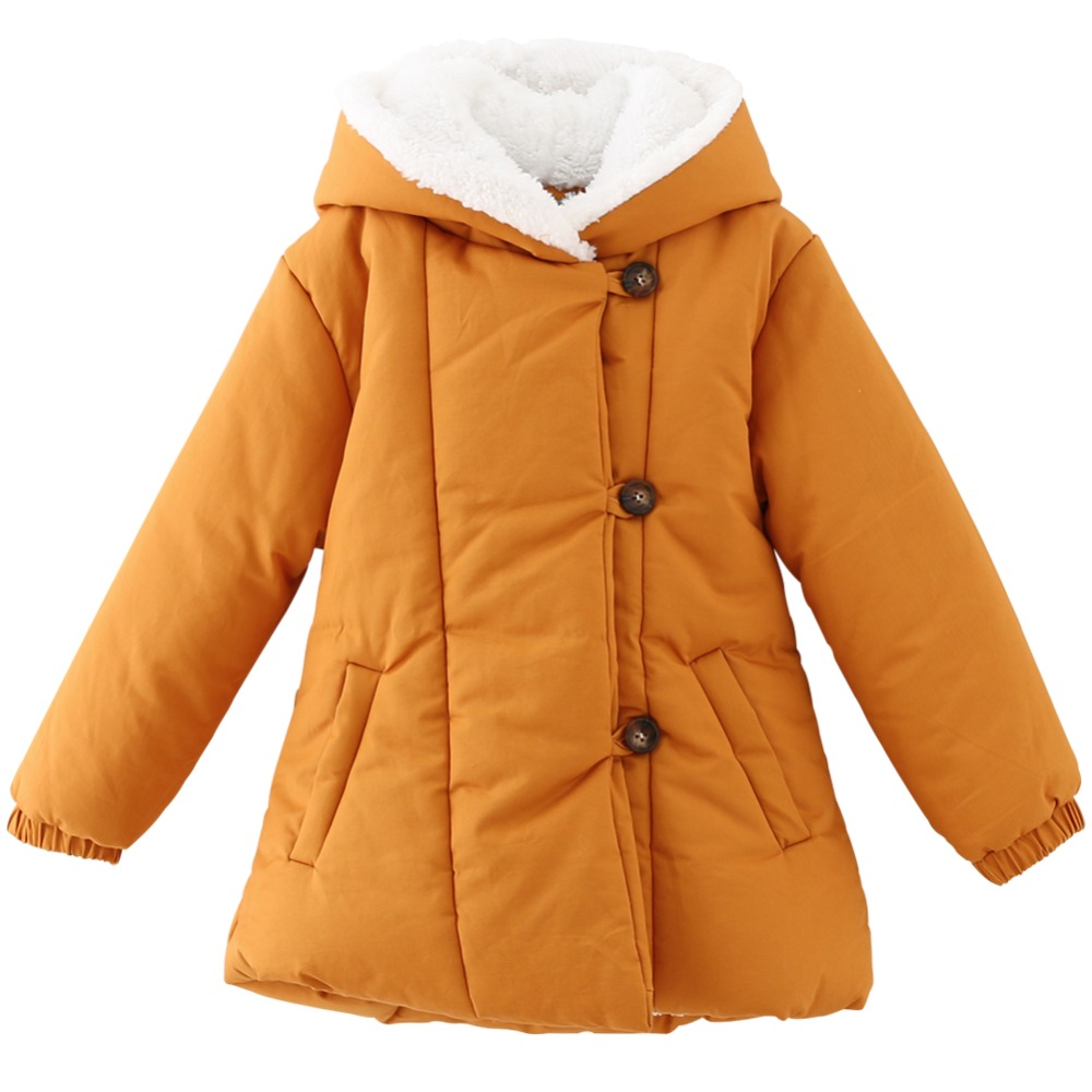 Retail 1 Pc Children Medium-Long Cotton Down Thickening Outerwear Girls Winter Coat Jackets Girls Down &amp; Parka Coats act228<br><br>Aliexpress