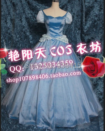 Free shipping New Design Cinderella Costume dress for Women/adults/kids Party Dress Cosplay Custom(China (Mainland))