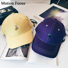 Korea Harajuku style fruit brimmed baseball cap embroidered hip-hop bend visor hat trend lady Spring summer sun hat cap MFM018(China (Mainland))