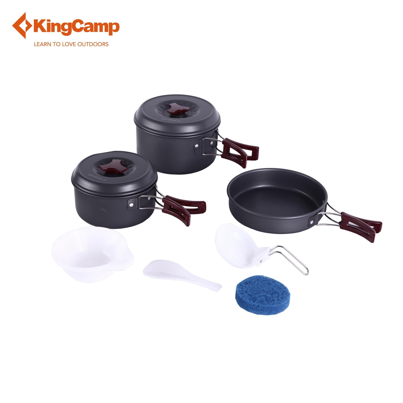 KingCamp Outdoor Set Portable Hard-anodized Aluminum 11 Pcs Camping Hiking Backpacking Cookware Set(China (Mainland))