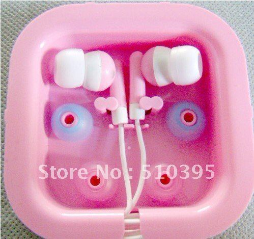 Soft in ear colorful earphone for iphone/ipad/ipod with box Freeshipping