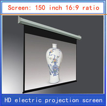 150-inch projection screen \16:9 HD screen\home theater projector screen \HD projector screen\electric curtain \ Wireless Remote