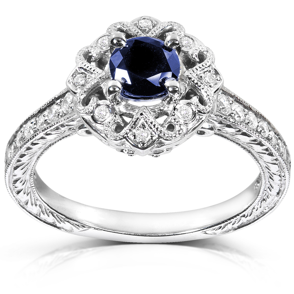 2016 antique style silver blue sapphire stone high quality cheap fashion women rings(China (Mainland))
