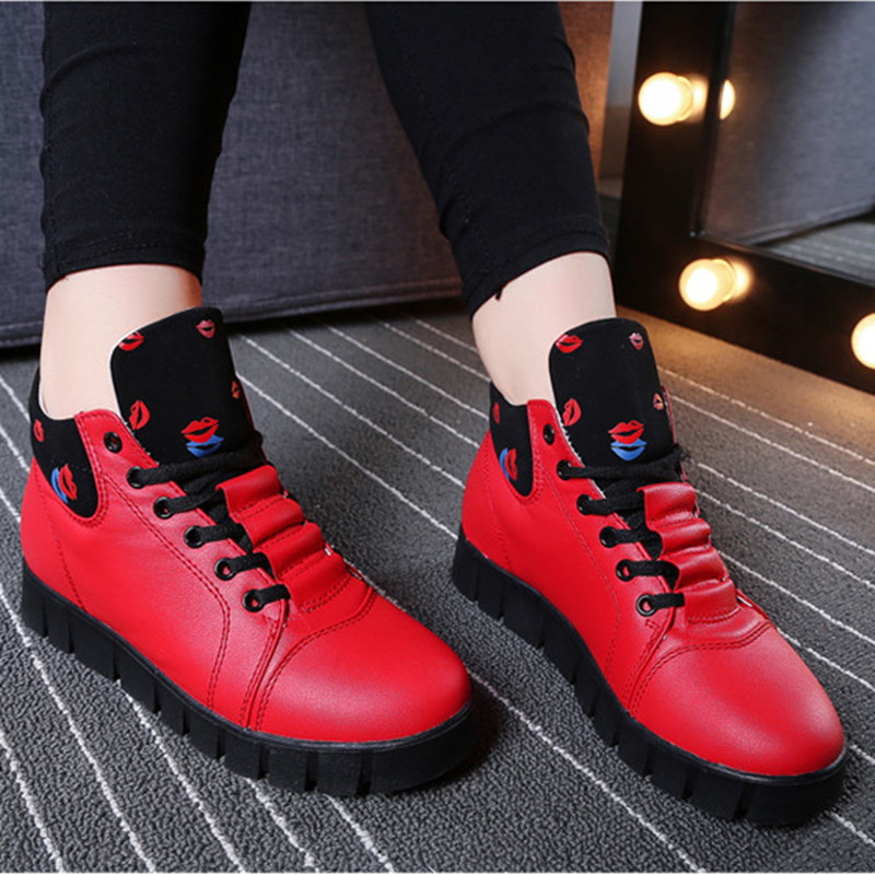 Autumn 2015 Women Flat Shoes Fashion Ankle Boots Platform Shoes Woman Leisure Ladies Walking Shoes Zapatos Mujer 35-40 Puls Size