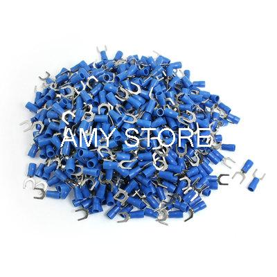 SV2-6S Fork Type Pre Insulated Wiring Terminals Blue for AWG 16-14<br><br>Aliexpress