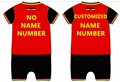Free shippment Baby Summer Belgium baby onesie romper Customized football Sport personalized jumpsuit for infantbaby 0
