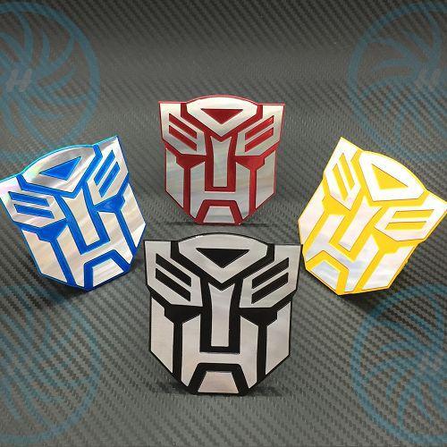 Buy one get one free! 7.5x7.2cm 3D Aluminum car Styling transformers reflective sticker For ford chevrolet kia rio skoda octavia(China (Mainland))