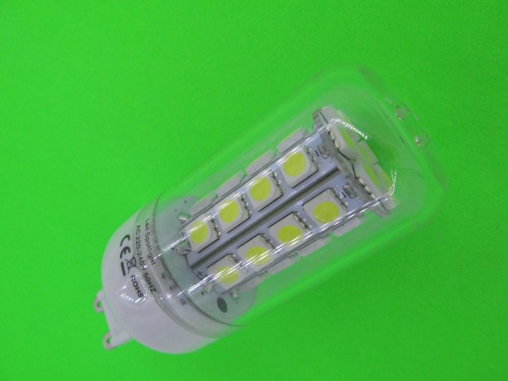 Mini LED Corn Bulb  G9 36 5050 SMD 7W 200V-240V/AC LED Light Cover  360 degree High Power Home Lamp  Free Shipping 20pcs/lot<br><br>Aliexpress