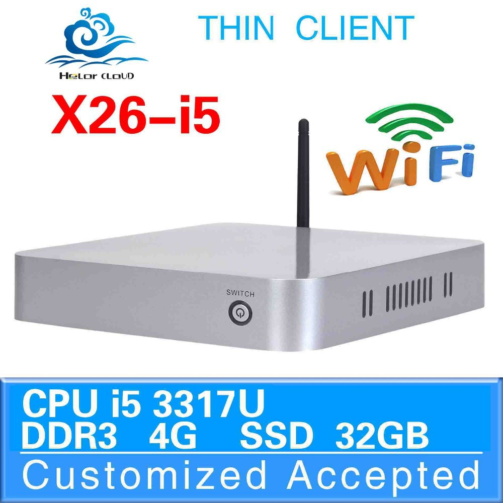 Ultra Low Power Fan Thin Client 3317u core dual 4gb Ram 32g Ssd wholesale Computer Ncomputing Thin Client Station Computer(China (Mainland))