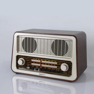 Wooden antique vintage old fashioned desktop portable radio old radio usb