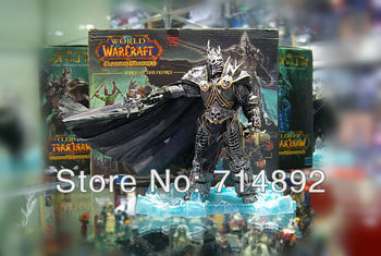 Wholesale free shipping by EMS World of Warcraft Arthas Menethil THE LICH KING Deluxe Collector PVC 27cm 1/6 scale 6pcs/lot
