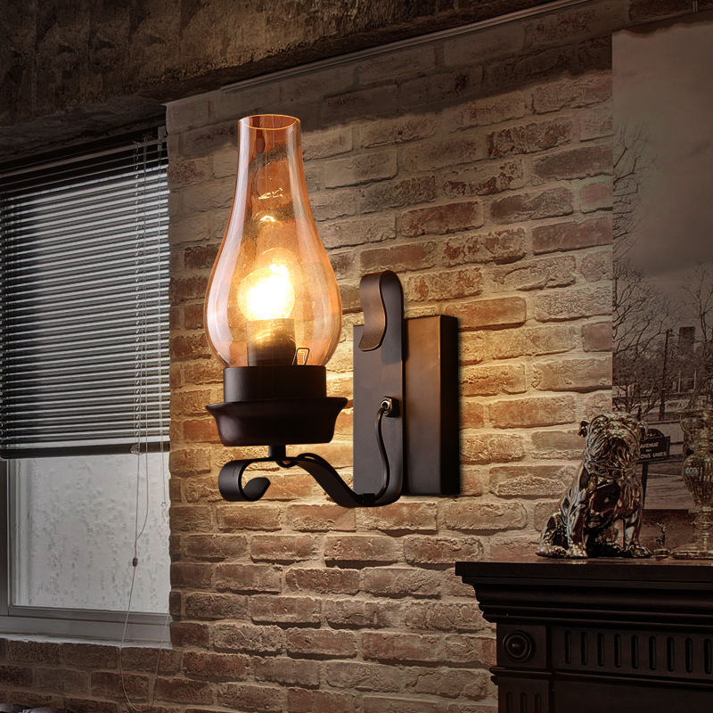 Wall Lamp Bar : Aliexpress.com : Buy Vintage Iron Wall Lamps American Bar Wall Lights Personalized Clear Glass ...