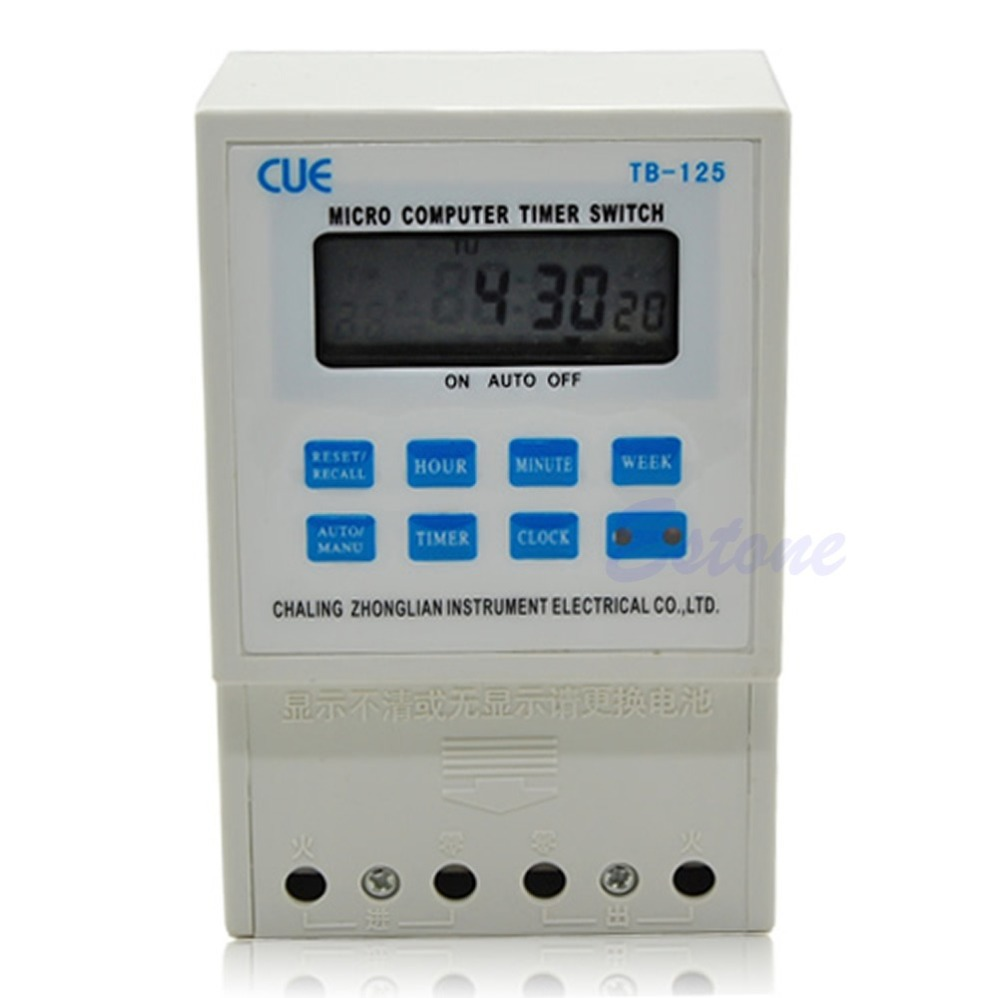 E93 2015Newest 12V LCD Digital Auto Micro Computer Programmable Timer Switch Control Tome Relay Free shipping(China (Mainland))