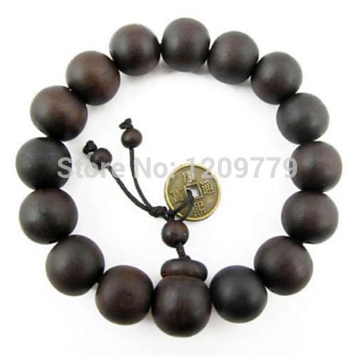 A18 Buddhist Tibetan Decor Prayer beads Bracelet Bangle Wrist Ornament Wood Buddha Beads Women Jewelry Religion Charm H5071 P(China (Mainland))