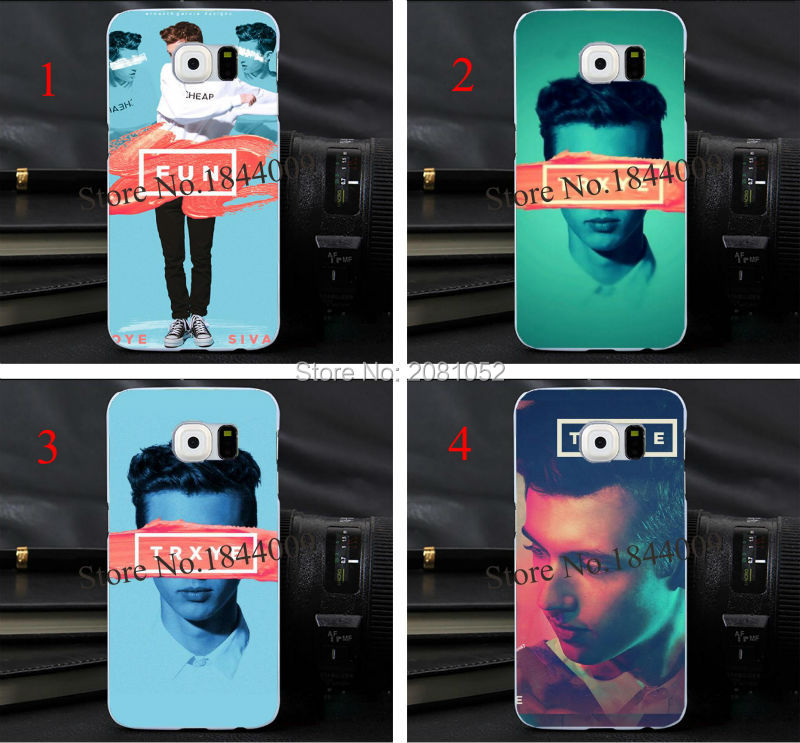 troye sivan trxye Style Hard Skin Transparent Cover Case for samsung galaxy s3 s4 s5 s6 s6Edge(China (Mainland))