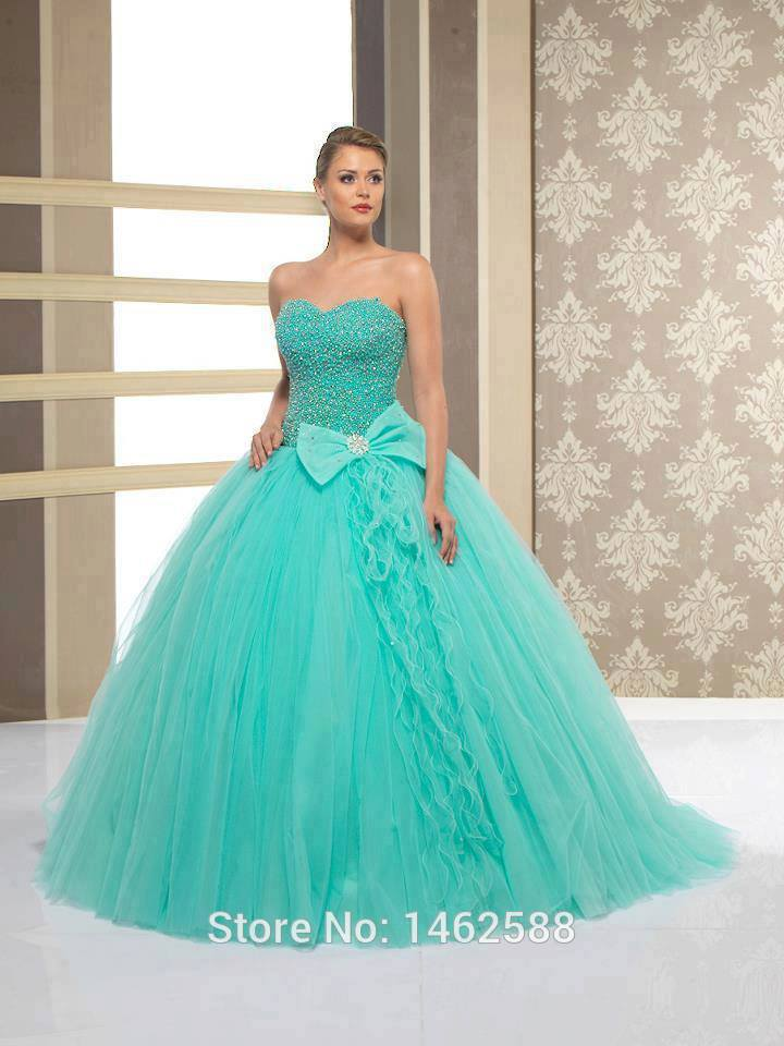 Wedding Dresses Turquoise 12