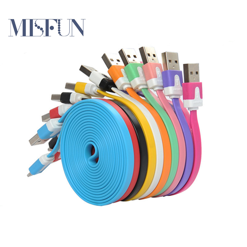 for iphone 4 4s 3gs 3ft Flat Noodle USB Charger Cable USB 30 Pin Sync Data Charging Cord for ipad 2 3 Iphone 5 5s 5c 6 6s Plus(China (Mainland))