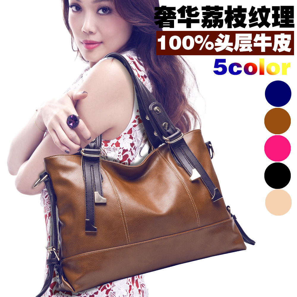 Genuine Leather Shoulder Bag Middle Cross Body Bags 2014 Women's Fashion Bussiness Handbags Brand