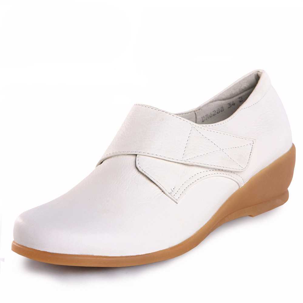 2015 white leather nursing shoes footwear protective