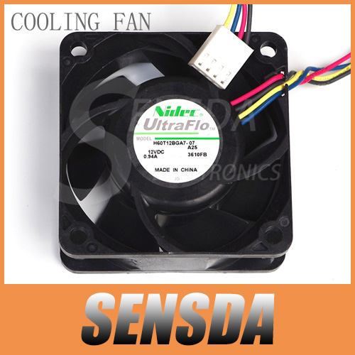 Free Shipping Original NIDEC H60T12BGA7-07 6CM 6025 60mm DC 12V 0.94A winds of 4-wire pwm cooling fan(China (Mainland))