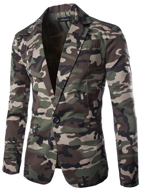 New Slim Fit Casual jacket Men Blazer Camouflage Mens Suit Jacket Long sleeve 2016 Autumn Coat Male Suite costume homme 2XLОдежда и ак�е��уары<br><br><br>Aliexpress