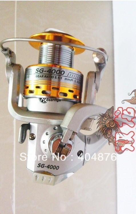 Здесь можно купить  BY Fedex 12PCS network SG- 4000A (FR006) 6 metal shaft fishing fish wheel fishing tackle spinning wheel round free shipping  Спорт и развлечения