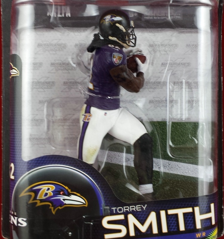 Animation Garage Kid Model Toys: JJIN Action Figure PVC Dolls NFL Rugby&Football Player Torrey Smith Model Excellent Gifts(China (Mainland))