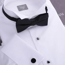 Hommes Tuxedo shirt, Français boutons de manchette banquet, Petit tour - down col, Haute qualité 140 '' fil de coton, 100% gurantee(China (Mainland))