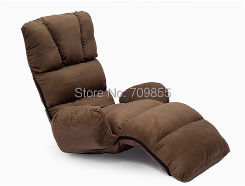Upholstered Armchair Floor Seating Furniture 4 Colors Modern Folding Lazy Sofa Chair Sleeping Daybed Chaise Lounge(China (Mainland))