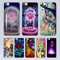 Beauty And The Beast design transparent clear hard Case Cover for Xiaomi Mi 4 4c 4s