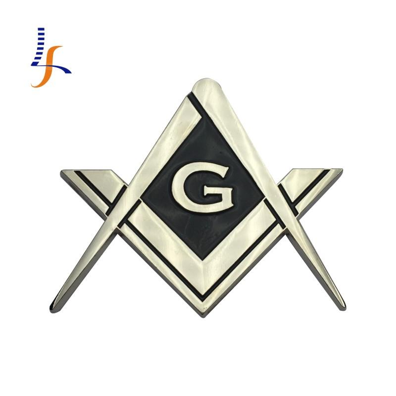 High Quality Mirror Polishing Chorme Plated Cut Out Masonic Auto Car Emblem(China (Mainland))